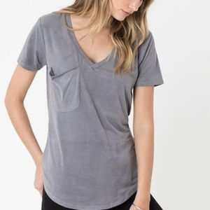 Z Supply Faux Suede Pocket Tee